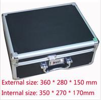 aluminium gun case - Tactical box aluminium tool case magic props file storage Hard Carry carrying box tool for Hand Gun Locking Pistol CM
