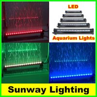 Wholesale underwater RGB LED Aquarium Tank Light cm cm cm cm cm cm cm aquariums Lighting quot aquarium lights tubes Adapter
