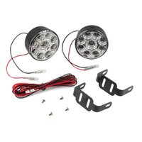 Cheap 2pcs pair universal 9 LED Round Daytime Driving Running Light DRL Car Fog Lamp Headlight White 2.7W Hot Selling