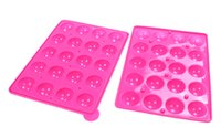 candy molds - 5 Silicone cake lollipop tool diy candy mold baking Tools Lollipops chocolate candy holes silicone molds