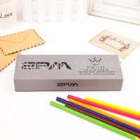 Wholesale f x pm bap bigbang cnblue exo mixed candy color paper pencilbox pencil case