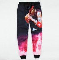 allen fashion - 2015 New sport jogging pants All Star Allen Iverson print d sweatpants men women emoji joggers pants size M XXL pantalones