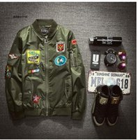 army female uniform - Autumn outfit new male and female American flight jacket coat MA1 hip hop restore ancient ways baseball uniform