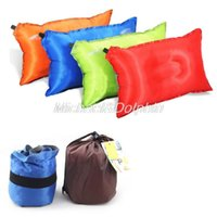 air travel safety - Ultra thin TPU Long Automatic Inflatable Air Pillow Cushion Travel Outdoor Camping Hiking Floating Safety Air Sac