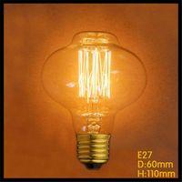 art squirrel - 220 v K G80 Vintage W E27 Squirrel Incandescent Edison Globe Light Bulbs clear glass carbon tungsten filament Art Deco