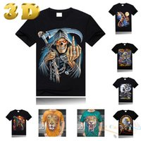 Cheap FG1509 2014 Men Fashion tshirts Eagle t Shirts Men Wolf Gun Fuck t-shirt Men Brand Swag Moon Lion Mens Designer Clothes for Women Tops