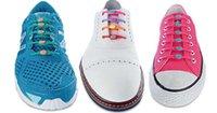 Cheap 12 colors New creative lazy shoe laces colorful silicone shoelaces no tie V tie shoe laces