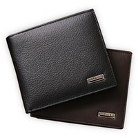 Cheap 100% genuine leather mens wallet premium product real cowhide wallets for man short black walet portefeuille homme
