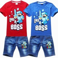 retail clothing - Retails to new minecraft children kids boys clothing sets boys clothing sets with shirts jeans pants suits children boys outfits sets