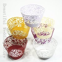 Wholesale Wedding Paper Cake Art Paper Cupcake Wrapper Laser Cut Cup Cake Wrapper Baby Party Shower And Wedding Party Cup Cake