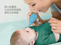 Wholesale Mi Suta child nasal suction device Baby booger cleaner Newborn baby nasal suction device blue silicone booger device in stock
