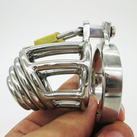 Wholesale Super Small Male Chastity Device Bondage Cock Cage A908 Cock ring BDSM New Sex toy Stainless Steel Chastity Belt