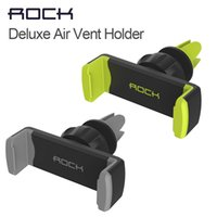 air rock - Rock luxury Car Phone Holder Air Vent Mount Stand GPS Bracket Rotate adjustable holder for iPhone s plus under phones