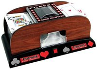 Wholesale Deck Wooden Deluxe Automatic Poker Card Shuffler Casino Bar Gamble Play Home
