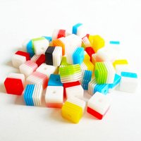 acrylic striped beads - 8mm Mixed Colors Striped Square Cube Beads Clear Strip Acrylic Resin Beads Making Necklace Bracelet Suppliers in China