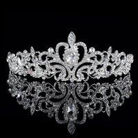 Cheap Shining Wedding Bridal Crystal Veil Tiara Crown Headband