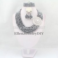 bea silver jewelry - ashion Jewelry Jewelry Sets Silver African Wedding Jewelry Set African Crystal Beads Necklace Set Nigerian Beads Jewelry Set African Bea