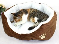 Wholesale Cashmere like soft warm Pet Cat Bed Pet Nest luxury Dog nest Luxury warm round A