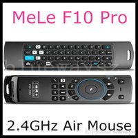 Wholesale Fly Air Mouse Mele F10 Pro GHz Mini Wireless keyboard Mouse IR Remote Control With Earphone Micphone Speaker For TV BOX Play Games