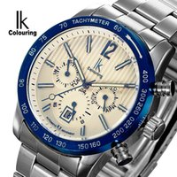 Wholesale Luxury Swiss Movement Automatic Mechanical Men Watch Multifunction ATM Waterproof Fashion Grid lines Dial Stainless Steel Watch Gift Pack