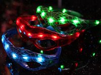 Wholesale Spiderman LED Light Flashing Glasses Gift Cheer Dance Mask Christmas Halloween Days Gift Novelty LED Glasses Led Rave Toy Party Glasses G086
