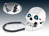 Wholesale Piece White Skull Shape Novelty Telephone Skull Flashing Phone Skull Telephone