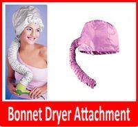 Wholesale Portable Bonnet Dryer Attachment Haircare Salon Hairdress Treatment Cap Color Pink and Grey Randomly Ship