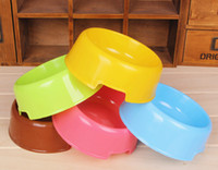 Wholesale Pet Dog plastics Travel Bowl Dog Feeder Dod Dishes Non Toxic Dog Supplies Pet Supplies