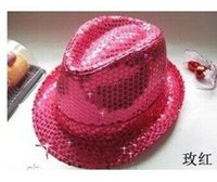 Wholesale The new nightclub bar DJ Night jazz sequined hat male and female performances ds lead dancer hat hat cap stage performances