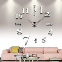 antique seiko watch - DIY large modern design decorative seiko watch digital d wall clocks relogio de parede com mirror Stickers clock GZ