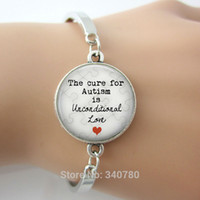 puzzle ring - The Cure for Autism is Unconditional Love Pendant bangle Autism Jewelry mother s day Puzzle Autistic Gift for Mom charm bangles
