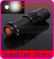 Wholesale SK98 CREE XM L T6 Lumen Mode Flood to Throw LED Flashlight x18650