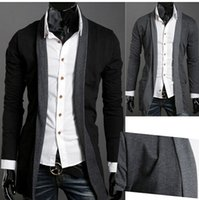 men knitted sweaters - Promotion South Korea fashion edge of autumn and winter real men leisure knitting cardigan sweater clown plus size XXL