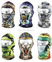 Wholesale New Patterns Cool Motorcycle Balaclava Face Mask Cycling Ski Hat Veil Assorted Styles