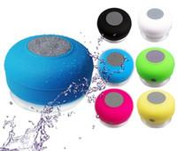 Subwoofer Doccia impermeabile portatile Bluetooth Speaker vivavoce per auto Ricevi chiamata Musica mini aspirazione IPX4 box altoparlanti giocatore Mic