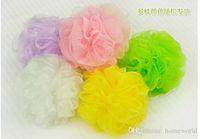 Wholesale Bath Shower Body Bubble Exfoliate Puff Bathing Sponge Mesh Net Ball