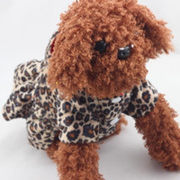Wholesale Pets Dogs Leopard Pattern Tutu Coat Dress Puppy Hoodies Both Sides Wear clothing for Dogs