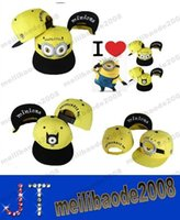 Wholesale Despicable Me3 Minion Kids Adults Ball Cap Action Figure Fashion Baseball Cap Snapback Hiphop Adjustable Hat MYY14976