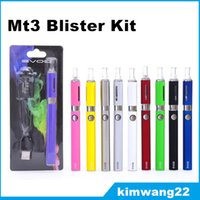 Wholesale EVOD MT3 Blister Kit E Cigarette Starter Kit MT3 evod Atomizer EVOD Batteries mAh mAh mAh with usb charger blister pack
