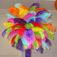 Wholesale Ostrich Feathers Different Colors cm quot Table Centerpieces Wedding Decorations Table Ostrich Feathers wedding Centerpiece Party