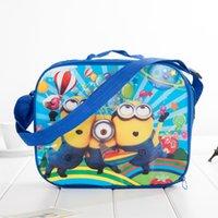 Wholesale Kids Despicable me Minions avengers Cartoon Lunch Box Set Nylon Cartoon Lunch bag minion lunch bag