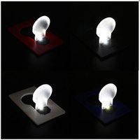 Wholesale Hot sale New Design Portable folding LED Card Mini Pocket Night Light Emergency bulb Lamp Wallet Size Home decor camping