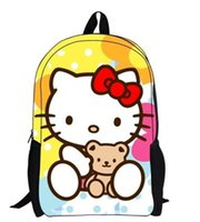 Wholesale 2014 cute hello kitty kids school backpack for girls baby bag doll print toys bags mochilas school kids mochila infantil bag