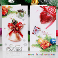 Wholesale 2015 new Christmas decorations Christmas Wish cards Christmas ornaments greeting card greeting Elevators santa card DHL
