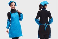 work apron - Hot Sale Restaurant Home Kitchen Cooking Craft Work Commercial Kit Aprons Colors With Pockets Aprons For Women Men