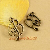 b jewelry piece - pieces MM antique bronze plated vintage style B word charms pendant diy jewelry hm473