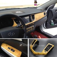 wood furniture - xterior Accessories Car Stickers CM Self adhesive Vinyl Wood Grain Textured Car Wrap Car Internal Stickers Wallpaper Furniture Wood