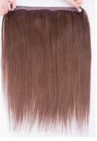 Wholesale 2pc Brazilian Virgin Remy Hair Flip in Hair Extension all colors g Length inch halo hair exteniosns