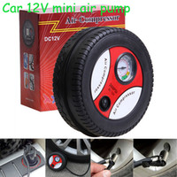 Wholesale New Mini Portable Electric Air Compressor Pump Car Tire Inflator V PSI Retail package DHL