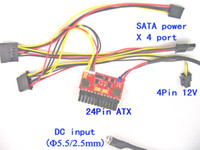 Wholesale 200W high power pin PicoPSU ATX mini ITX DC ATX power supply Free Tracked Shipping V V DC wide range input